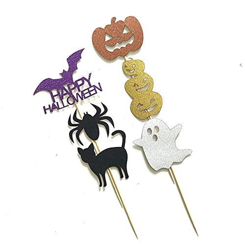 (Rishx Halloween Kuchen Dekoration Plakat Gruß-Karte, Feiertags Dekoration Partei Kleid Flaggen Fotografie Requisiten Set (6 Pack))