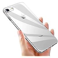 Custodia iPhone 8, Custodia iPhone 7, ikalula Crystal Caso iPhone 8 TPU Silicone iPhone 7 Bumper Case Anti-graffio Ultra Sottile Shock-Absorption Copertura Posteriore per iPhone 8 - Crystal Clear