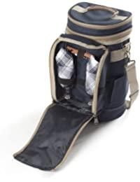 Greenfield Collection Contour Admiral Blue Wine Cooler Bag for Two People