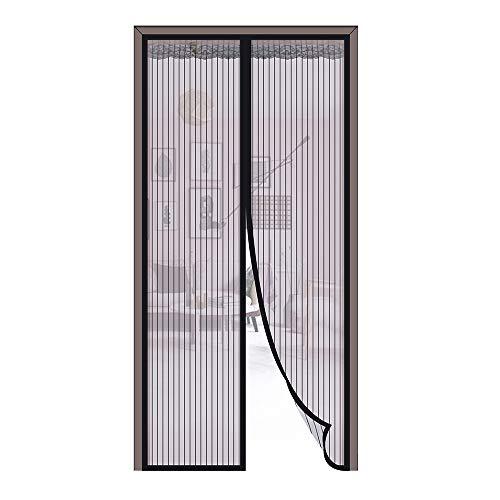 Fliegengitter 90 * 210CM Magnetvorhang Insektschutz Ideal für Balkomtür Schlafzimmer Wohnzimmer usw. Kinderleichte Klebemontage, Nozdom (90 * 210)