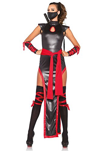 Leg Avenue Damen-Kostüm Shadow Ninja - 5-TLG, - Shadow Kostüm