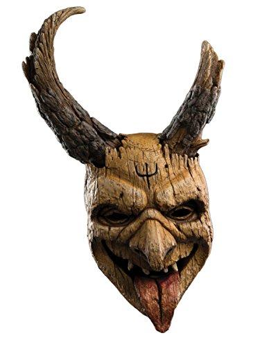 Krampus Elf Halbmaske mit Hörnern für Halloween