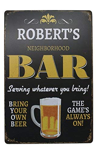 Robert-küche (Yohoba Robert's Bar Beer Blechschild, Vintage-Plakette, Kunstposter, Küche, Bar, Pub, Heimwanddekoration)