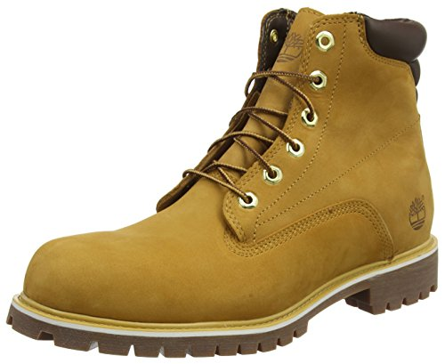 Timberland Herren 6 in Basic Alburn Waterproof Stiefel, Gelb (Wheat Nubuck), 43 EU