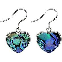 Nice Dangle Pendientes para las mujeres por el BodyTrend–fue hecha de mar Conchas con diseño de corazón