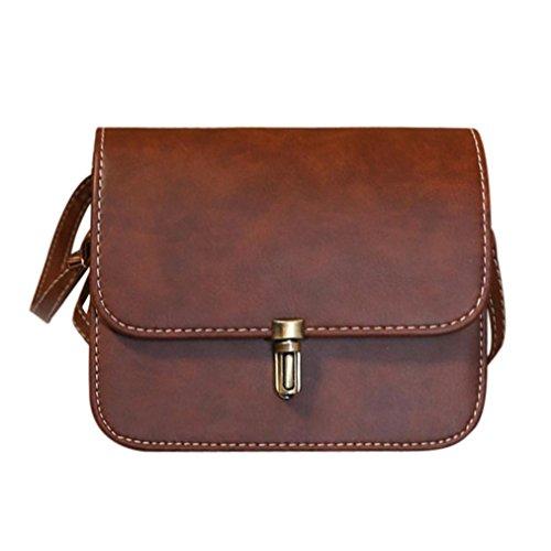 UFACE Modische Weibliche Kugel Lock Leder Schulter Messenger Bag Frauen Dame Satchel Handtaschen Taschen Kurier Crossbody Tasche (Kaffee) (Tasche Satchel Handtasche)