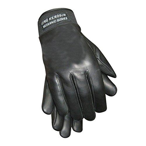 King Kerosin Handschuhe Lederhandschuhe (L, Schwarz)