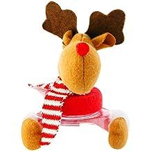 Longra ☂☂ ☂☂♬♬✿✿Navidad Candy Jar Santa Claus/Snowman / Elk decoración de la Ventana de Escritorio