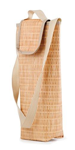 Kikkerland Kühltasche, Kunststoff, Braun, 10.16 x 10.16 x 35.56 cm