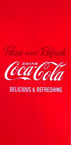 Grand Badetuch Coca Cola 75x 150cm & # •; Delicious & Refreshing, & # •; Strandtuch Velours & # •; CocaCola Beach Towel Toalla