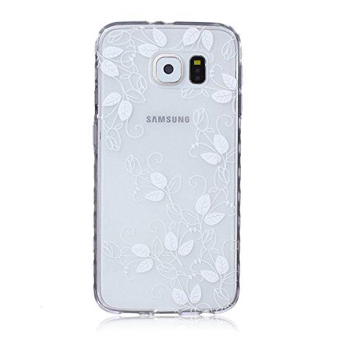 Ekakashop Coque pour Samsung Galaxy S6 SM-G920F, Ultra Slim-Fit Flexible Souple Housse Etui Back Case Cas en Silicone pour Galaxy S6, Soft Cristal Clair TPU Gel imprimée Couverture Bumper de Protectio Morning Glory