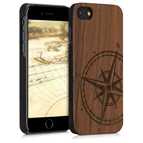 kwmobile Funda para Apple iPhone 7/8 - Carcasa de [Madera] - Case Trasero...