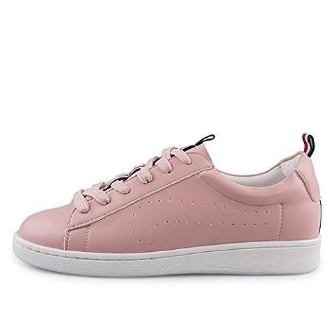 Printemps et automne,tête ronde,dentelle chaussures/talons bas,plat,casual shoes/ladies mince chaussures-C Longueur du pied=21.8CM(8.6Inch)