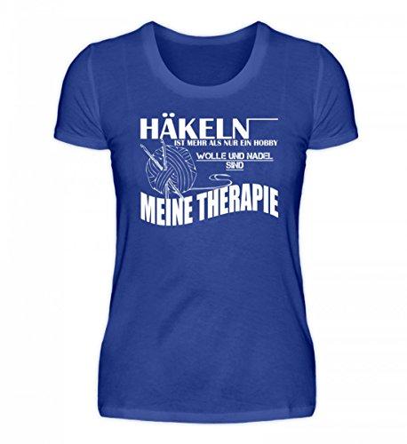 Shirtee Hochwertiges Damen Premiumshirt - Häkeln ist Meine Therapie