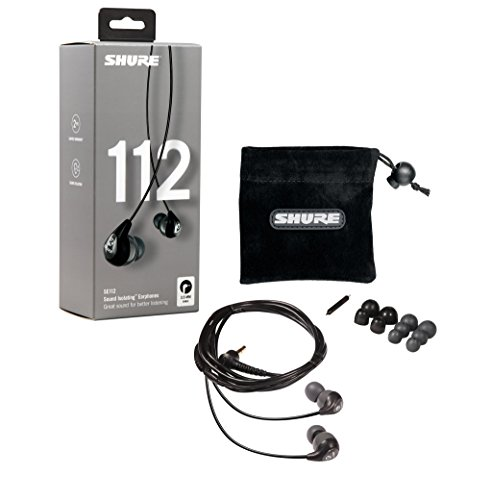 Shure SE112, Sound Isolating In-Ear Ohrhörer, schwarz/grau - 2
