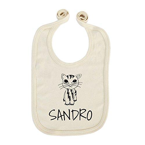 jollipets Baby enfants Bavoir-Sandro-100% BIO organique-Variante: Animaux Zoo-Taille Uniqu