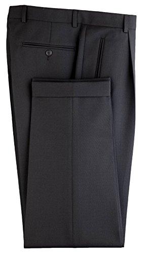 Anzughose/Kellnerhose Gentleline, Bundfalte, schwarz Schwarz