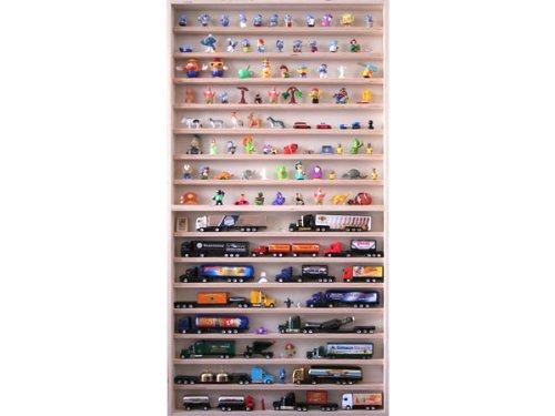 Sammlervitrine 60 cm x 115 cm x 6 cm Regal Hängevitrine für Figuren und Modellautos von Alsino V57 -