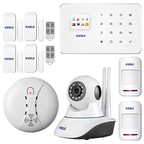 G18 - Kit Systeme d'Alarme Maison sans Fil GSM Appel 120Zones Antivol Sécurité Télécommande - Domestique Camping Car Garage - WiFi IP Caméra Accueil Cambrioleur
