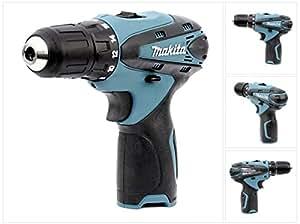 Makita DF 330 Perceuse à percussion/visseuse sans fil à batterie lithium-ion 10,8V Solo, vendue sans accessoires, couleur: bleu
