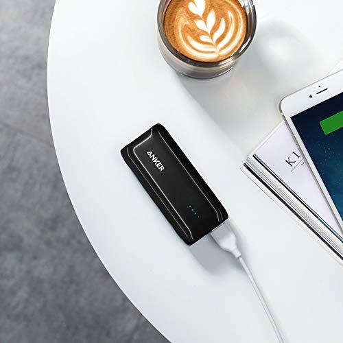 Anker Astro E1 5200mAh Mini Externer Akku Power Bank USB Ladegerät mit PowerIQ für iPhone 6s, 6, 6s Plus, Galaxy S6 S5 und weitere (Schwarz) - 3