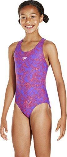 "Only Sports Gear Speedo Boom Allover Splashback Swimsuit 24"" (6yrs) Purple/orange"