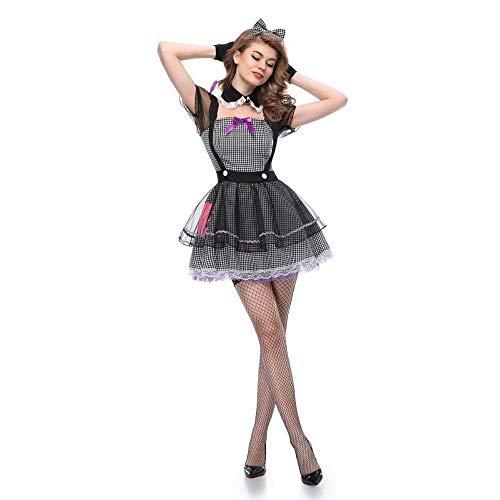 Fashion-Cos1 Sexy Hexe Cosplay Halloween Karneval Schwarz Kostüm Weibliche Zauberer Kostüme Party Mädchen Zombie Braut Outfit (Size : - Zauberer Kostüm Weiblich