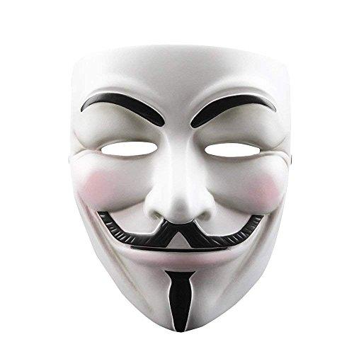 Polyresin Maske Halloween Kostüm, Xinxun Film Theme Harz Maske für Halloween Party, Maskenball, Maskerade Kostüm Partei Cosplay Geschenk (V For Vendetta)