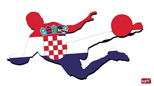 1art1 114397 Fußball - Fußballer Mit Flaggen-Trikot, Kroatien Wand-Tattoo Aufkleber Poster-Sticker 120 x 60 cm