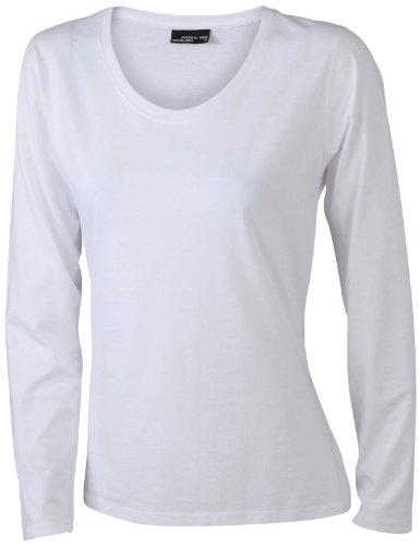 James & Nicholson Damen T-Shirt Langarmshirt XX-Large white (100% T-shirt Baumwolle Jersey)