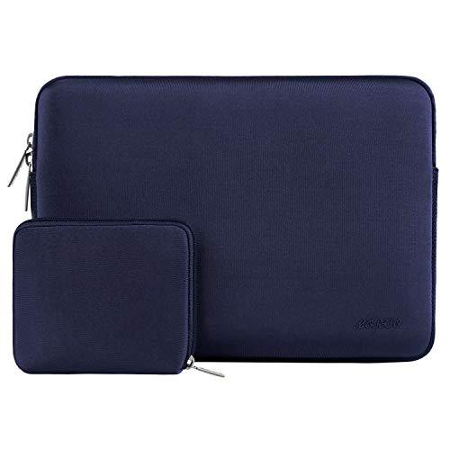 MOSISO Wasserabweisend Neopren Hülle Sleeve Tasche Kompatibel 13-13,3 Zoll MacBook Pro, MacBook Air, Notebook Computer Laptophülle Laptoptasche Notebooktasche mit Kleinen Fall, Navy Blau