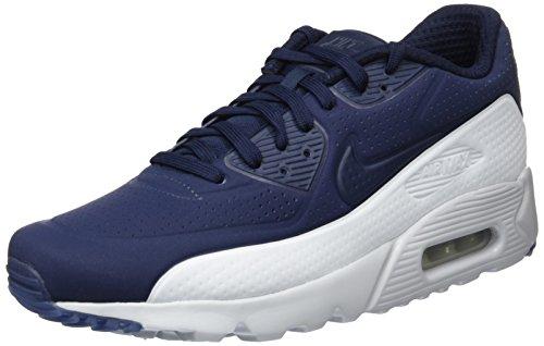 Nike Herren Air Max 90 Ultra Moire Laufschuhe, Blau (Obsidian/Obsidian-Pr Platinum), 42 EU (Nike Air Max 90 Moire)
