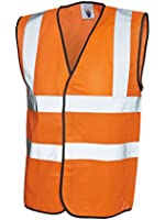 Hi-Vis Safety Vest Jacket High Visibility Waistcoat Work Workwear EN471 UC801