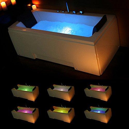 TroniTechnik Whirlpool Badewanne IOS 170cm x 75cm mit Spülfunktion, Hydromassage und Farblichtherapie - 2