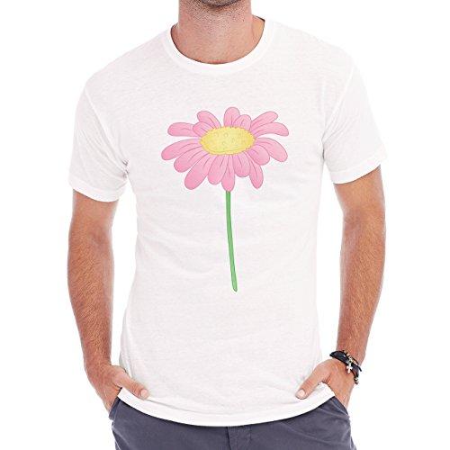 Flowers Nature Blossom Plant Pink One Herren T-Shirt Weiß