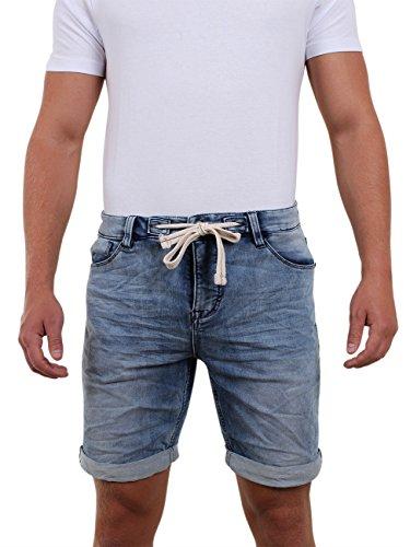 e09d260a781e Riverso Herren Jogg Jeans Shorts   Fred   Sommer Bermuda Sweathose -  schwarz -