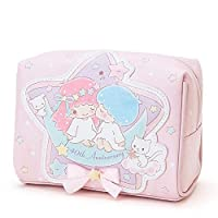 caomei Pink small double star cute cosmetic bag leather travel cosmetic bag women