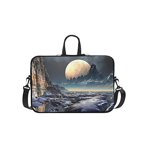 Ausländischer Planet 3 D übertrug Computergrafik-Aktenkoffer-Laptoptasche-Kurier-Schulter-Arbeitstasche Crossbody-Handtasche für das Geschäftsreisen (Alien Macbook-hülle)
