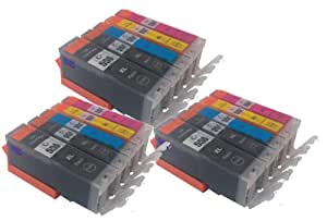 Canon CLI-551 / PGI-550 - 3 set of 5 Multipack Compatible Ink Cartridges for Canon Pixma MG6350 Also Comaptible with Canon Pixma iP7250, Canon Pixma MG5450, Canon Pixma MX925 Printers - Latest Version Double Capacity Inks - PGI-550BK, CLI-551BK, CLI-551C, CLI-551M, CLI-551Y (Contains 15x : PGI 550BK, CLI 551BK, CLI 551C, CLI 551M, CLI 551Y) -Large Black / Black / Cyan / Magenta / Yellow / - Multipack ***By TriINKS***