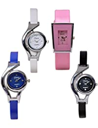 krupa enterprise Multi-colour Dial Analog Watch for Women - Pack of 4