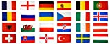 Flaggenfritze® Flaggen Set EM 2016 - 90 x 150 cm, alle 24 Nationen + gratis Sticker