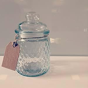 Bougie à chauffe-plat/pot à épices ystad» comme «bocal avec couvercle utilisable vase porte en verre ou 13 x 8 cm
