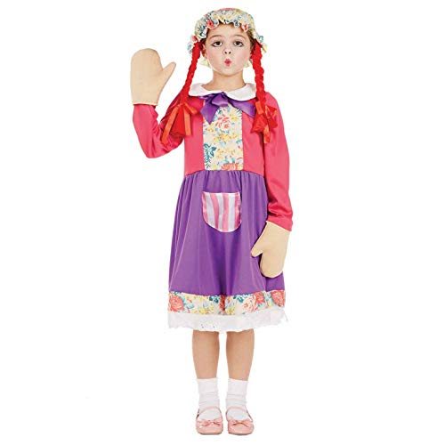 Fun Shack FNK4285M Kostüm, Girls, Rag Doll, M (Kostüm-kind Doll Rag)
