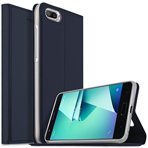 DOOGEE X20L Hülle, KuGi DOOGEE X20L Flip Bookstyle Kompletter Schutz Mit Magnetverschluss und Standfunktion Tasche Etui Cover Case Schutzhülle für DOOGEE X20L Smartphone (Blau)