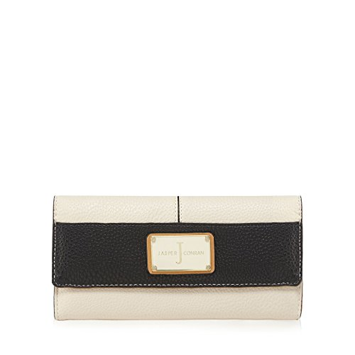 j-by-jasper-conran-womens-cream-colour-block-enamel-plate-large-flapover-purse