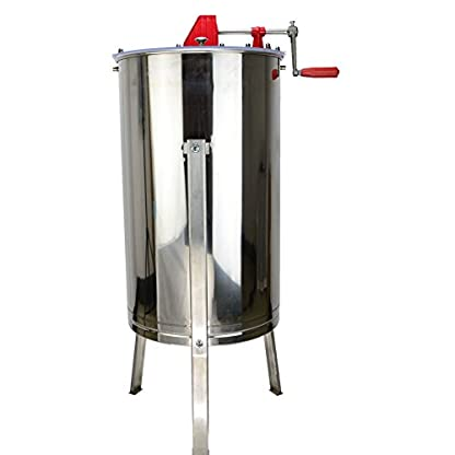 SYAYA Stainless Steel Bee Honey Extractor Honeycomb Drum Manual Beekeeping Equipment (Color One) 2