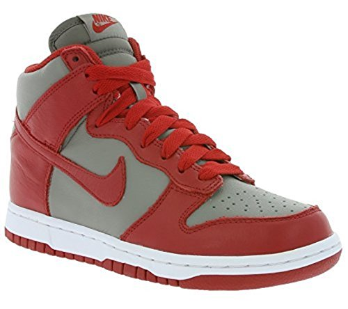 Nike Damen Wmns Dunk Retro QS Turnschuhe, Grau (Soft Grey/Univ Red), 36 1/2 EU (Grau Nike Dunks)