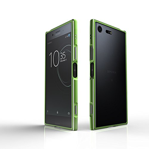 Sony Xperia XZ Premium Hülle Aluminium Rahmen Bumper Handytasche für Sony Xperia XZ Premium, Grün