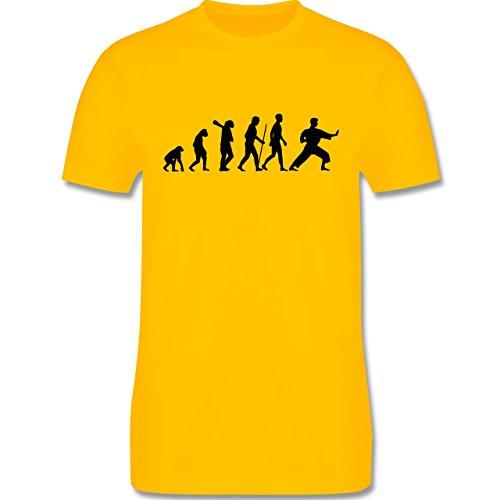 Evolution - Kampfsport Evolution - Herren Premium T-Shirt Gelb