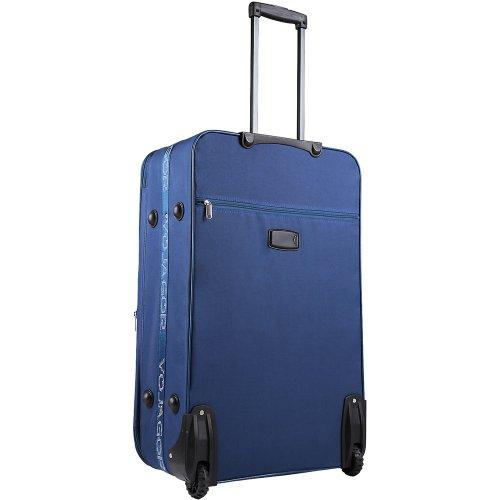 5 TLG. Trolleyset Kofferset Reisekoffer Handgepäck XXL, XL, L, M, S (Blau) - 4